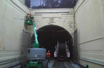 SFMTA working on subway wall